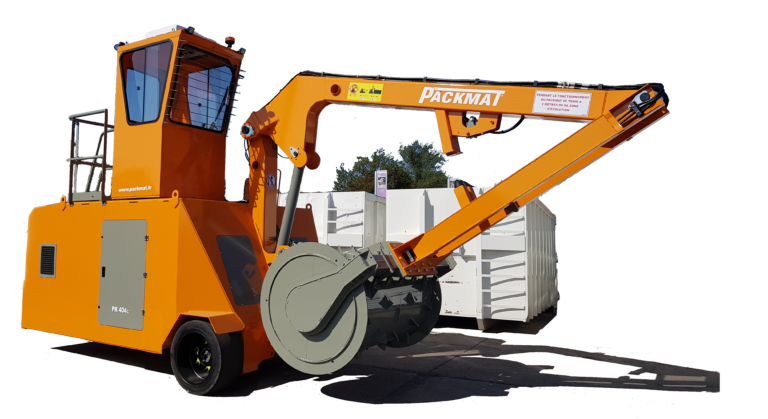 PK404 avec crochet de levage pour le déplacement des bennes compacteur pour déchèterie optimiser la gestion des déchets avec packmat