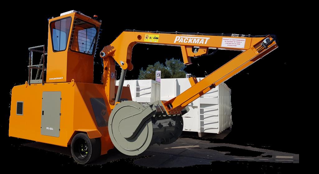 PK404 compacteur sur site packmat system